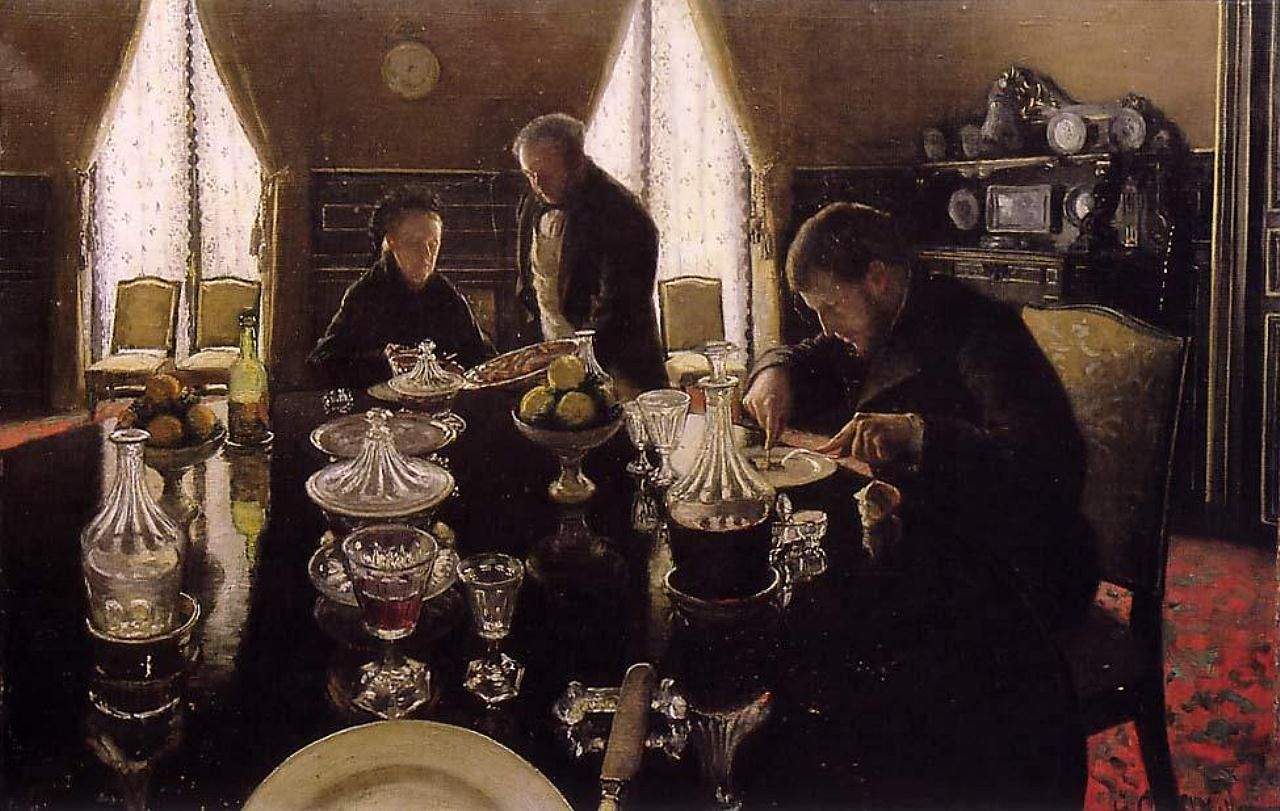 Lunch. 1876 Gustave Caillebotte (1848&amp;#8211;1894), Private collection.